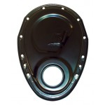 Steel 1955-95 Chevy Sb 283-305-327-350-400 Timing Chain Cover (ROLLER Cam) - Black