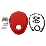 Steel 1955-95 Chevy Sb 283-305-327-350-400 Timing Chain Cover Kit - Orange