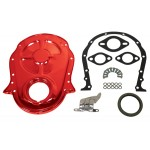 Steel 1966-90 Chevy Bb 396-402-427-454 Timing Chain Cover Kit - Orange