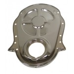 Steel 1966-90 Chevy Bb 396-402-427-454 Timing Chain Cover - Chrome