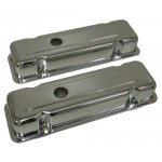 Steel Buick Valve Covers 1977-88 231 V6 - Chrome