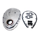 Aluminum Chevy Sb 283-305-327-350-400 Timing Chain Cover Set - Polished