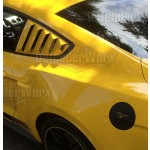2015 Mustang Quarter Window Louvers - DefenderWorx