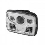 7x6 Projector LED Headlights - Chrome - (High/Low Beam)