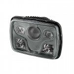 7x6 Projector LED Headlights - Black - (High/Low Beam)