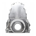 Chevy LS Two Piece Timing Chain Cover no Cam Sensor Hole - Polished