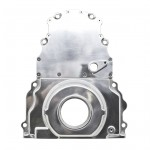 Chevy LS Two Piece Timing Chain Cover w Cam Sensor Hole - Polished