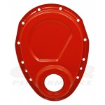 Steel 1955-95 Chevy Sb 283-305-327-350-400 Timing Chain Cover - Orange