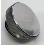 Billet Aluminum Round Knurled Radiator Cap 16lbs - Polished