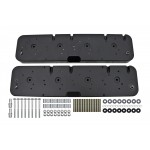 LS Valve Cover Adapter Kit, LS to SBC- Black