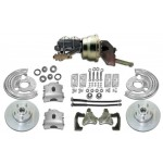 Mopar B-Body 1962-72, E-Body 1970-74 Complete Power Disc Brake Kit - MBM DBK6272-PB-MC-PVK