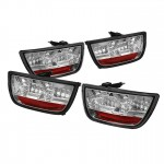 2010-13 Camaro LED Tail Lights - Chrome