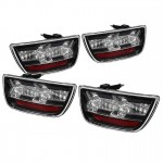 2010-13 Camaro LED Tail Lights - Black