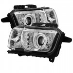 2010-13 Camaro Projector Headlights Dual Halo -  LED Halo - Chrome