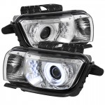 2010-13 Camaro Projector Headlights Dual Halo - CCFL Halo - Chrome