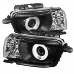 2010-13 Camaro Projector Headlights Dual Halo - CCFL Halo - Black