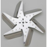 "Stainless Steel Flex Fan, 15"" Chrome Center"
