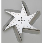 "Stainless Steel Flex Fan, 17"" Chrome Center (Reverse Rotation)"