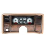 1978-88 Monte Carlo Digital Gauges, Silver Alloy Style Face, Red Display