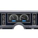1984-87 Buick Regal Dakota Digital Gauges VHX System, Black Alloy Style Face, Blue Display