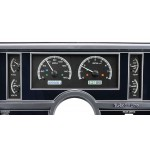 1984-87 Buick Regal Dakota Digital Gauges  VHX System, Black Alloy Style Face, White Display