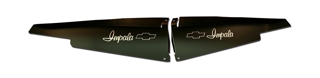 "1963 Impala Anodized Show Panel with ""Bowtie"" Engraved"