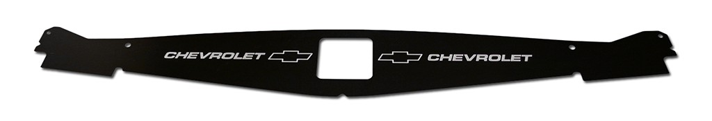 "1965-1966 Impala Anodized Show Panel with ""Bowtie/Chevrolet"" Engraved"