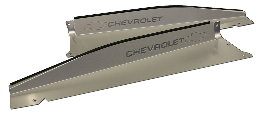"1967-1968 Chevy and GMC trucks Show Panel with ""Bowtie/Chevrolet"" Engraved"