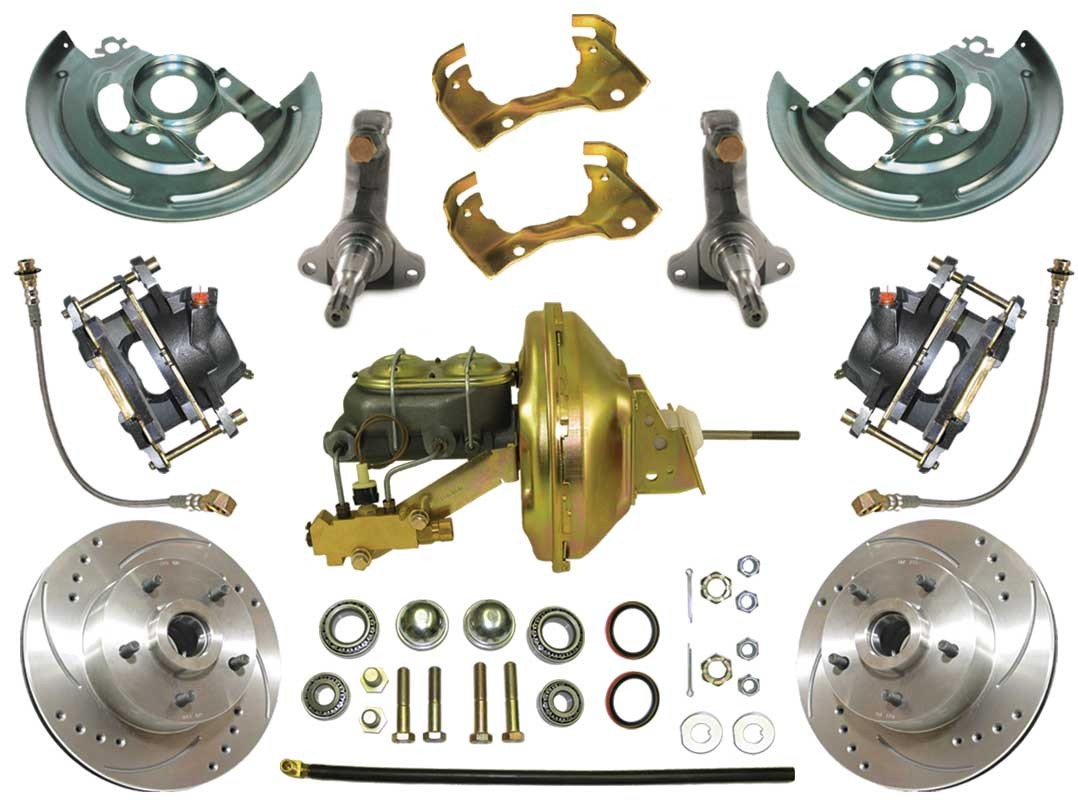 1967-1969 Chevy Camaro - Complete Power High performance Disc Brake Kit - MBM DBK6472LX-PB-MC-PVK
