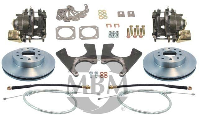1967-1969 Chevy Camaro Complete Rear Disc Kit - MBM DBK1012
