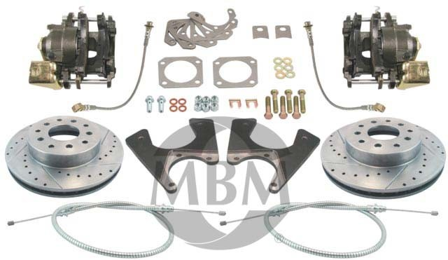 1967-1969 Chevy Camaro High Performance Rear Disc Brake Kit - MBM DBK1012LX
