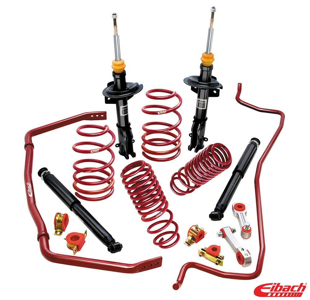 2011-2013 Ford Mustang Shelby GT500 - SPORT-SYSTEM-PLUS (SPORTLINE Lowering Springs, PRO-DAMPER Shocks & ANTI-ROLL-KIT Sway Bars) - Eibach # 4.13035.680