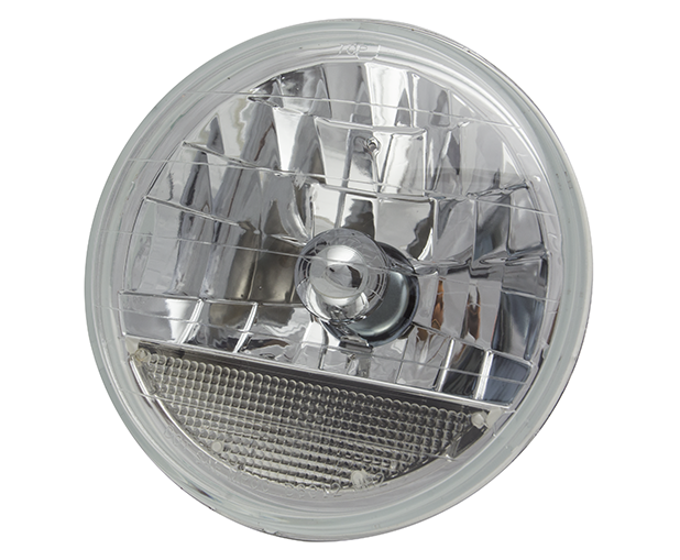 7 Inch Round Diamond Cut Headlights w/Turn Signal