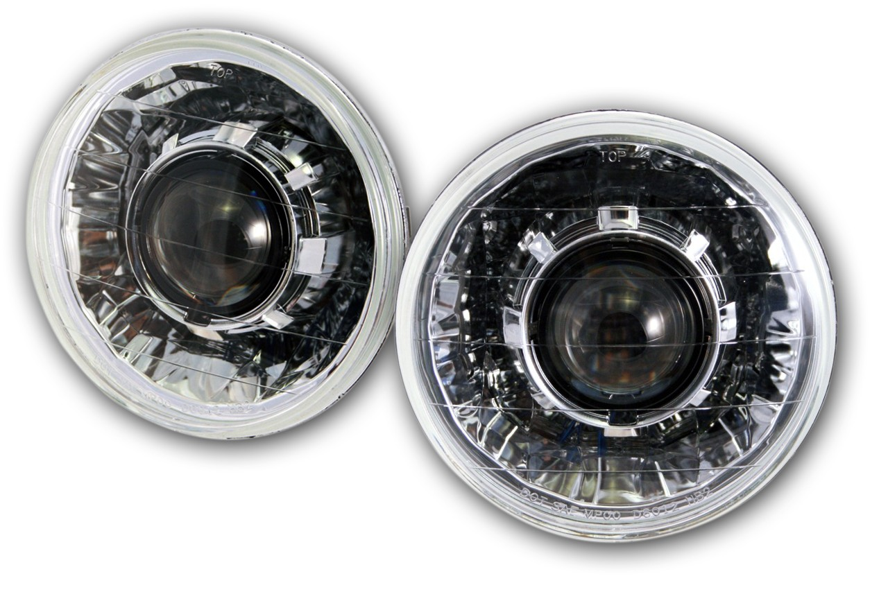 Chevy C10 Projector Headlights - Classic V2 - Chrome