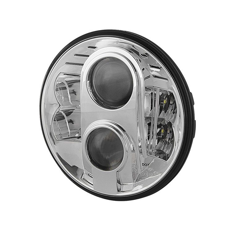 7inch Universal Round Projector LED Headlights - Chrome