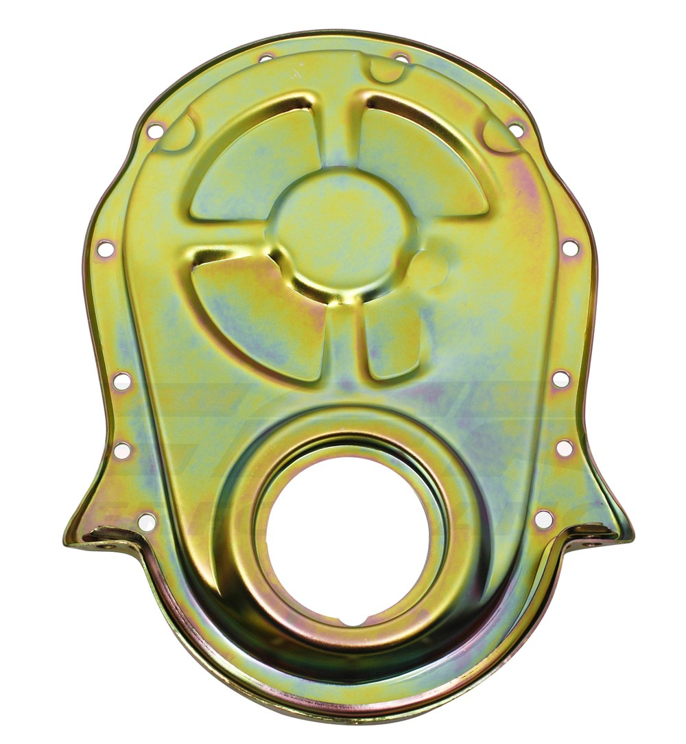 Steel 1966-90 Chevy Bb 396-402-427-454 Timing Chain Cover - Zinc