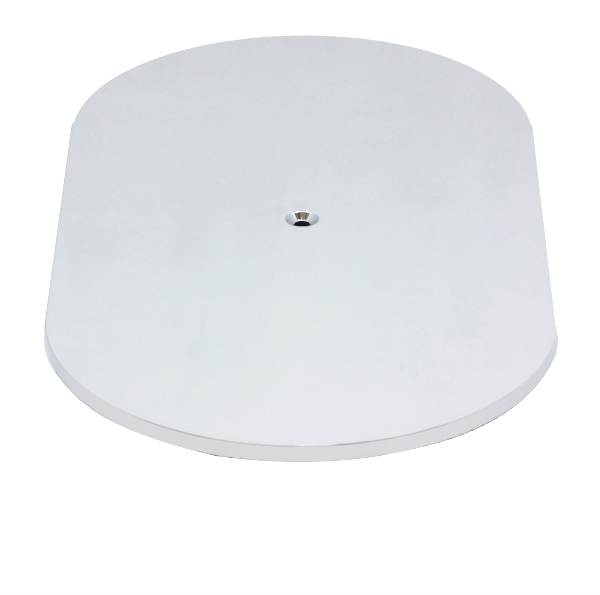 """Aluminum 12"""" Oval Air Cleaner Top Smooth - Polished"""