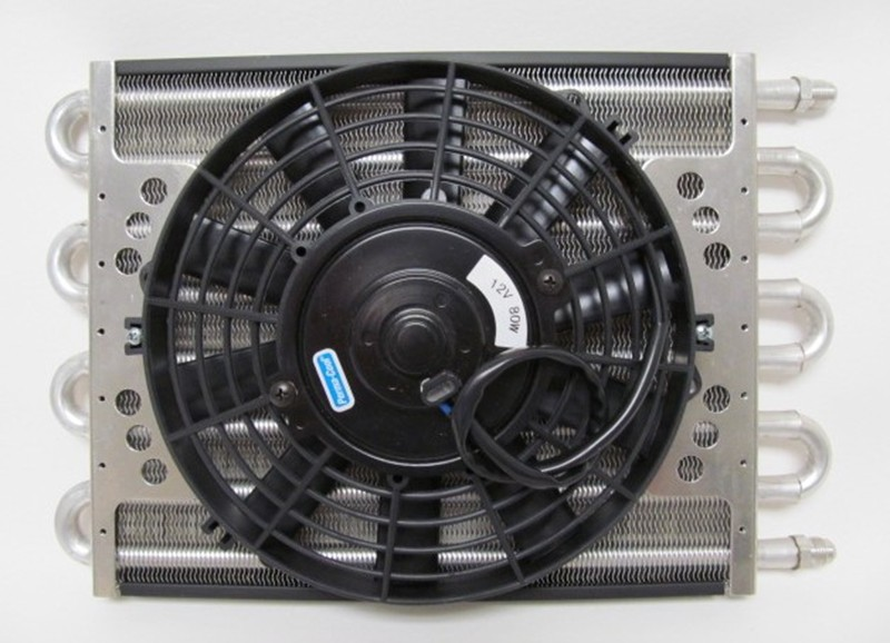 """8-pass Oil Cooler Coil & 10"""" Electric Fan Assembly - Maxi-Cool Jr."""